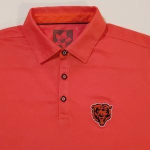 Large Orange Tommy Bahama Chicago Bears Polo